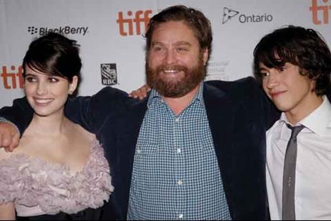 Domhnall Gleeson (left), Zach Galifianakis (centre), Thomas Mann (right)